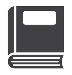book solid icon education and school vector image