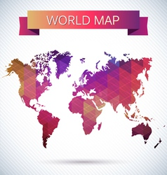 Bright map of the globe vector image vector image