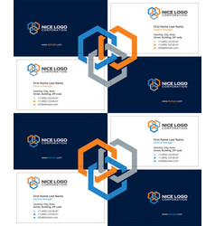 Business card construction industry dark vector