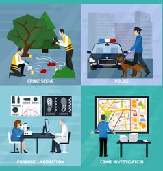crime investigation flat design concept vector image vector image