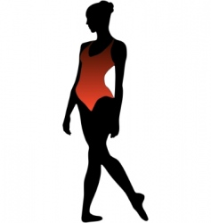 dance girl ballet silhouettes vector image vector image