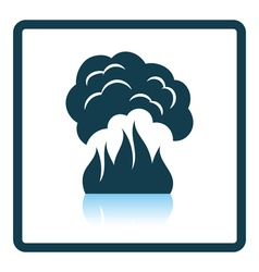 Fire and smoke icon vector