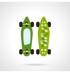 Flat color icon for modern skateboard vector image vector image