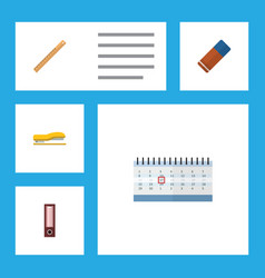 Flat icon tool set of date block supplies vector