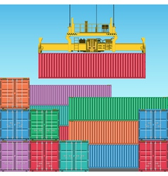 freight containers vector image