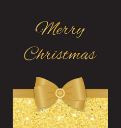 glamorous christmas greetings with gold glitters vector image