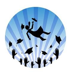 Graduates celebrating vector