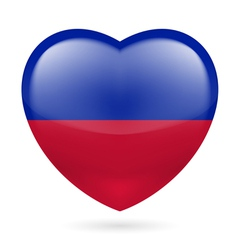 Heart icon of haiti vector