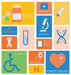 Icon Hospital Medical Science vector image vector image