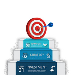 infographic with target and dart vector image vector image
