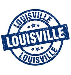 Louisville blue round grunge stamp vector