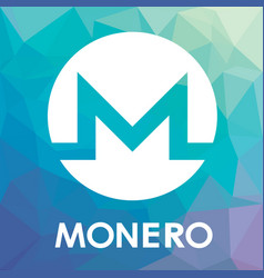 monero xmr blockchain cripto currency logo vector image vector image