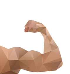 Muscle men abstract vector