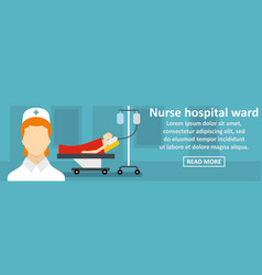 Nurse hospital ward banner horizontal concept vector