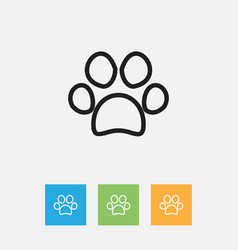 of zoology symbol on paw vector image