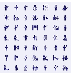 Professions stick figures vector image vector image