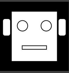 robot head icon vector image vector image