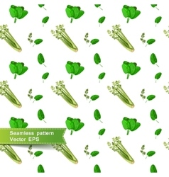 Seamless pattern with slices of vegetables celery vector