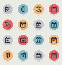 Set of simple time icons vector