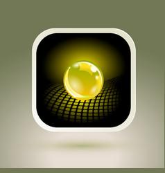 Sphere app icon conceptual hi-tech design vector