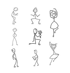 Stick figures vector