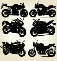 super bikes silhouettes vector image