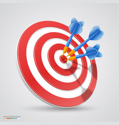 Target with darts vector