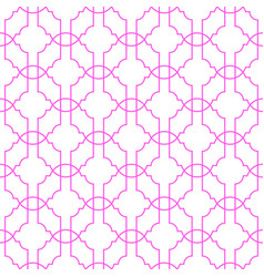 Trellis geometric thin seamless pattern vector