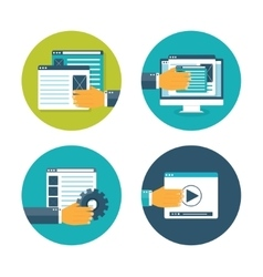 Web pages flat computing vector