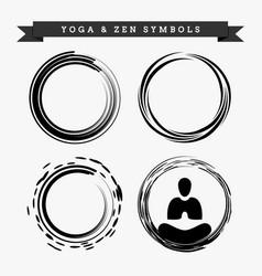 yoga zen symbols vector image
