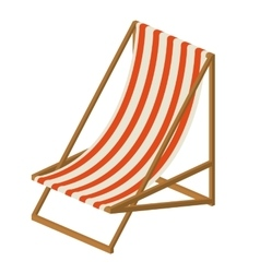 Beach chair isolated icon design vector