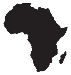 Africa continent icon vector
