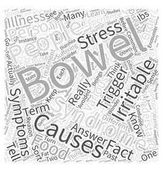What is irritable bowel syndrome word cloud vector