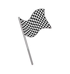 Flag start sport victory finish symbol vector