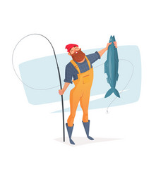 For rest on a fishing trip vector