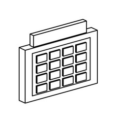 schedule symbol 3d vector image