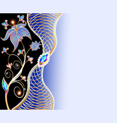 Jewelry background with ornaments made of vector