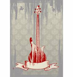 Grunge bass guitar vector