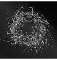 black pattern background vector image