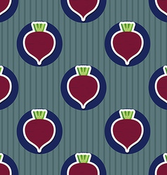 Beet pattern seamless texture with beetroot vector