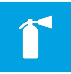 Fire extinguisher white icon vector