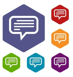 Talk rhombus icons vector