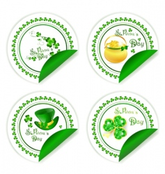 St patrick's day labels vector
