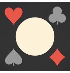 Playing cards suits background with copyspace vector