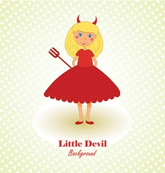 Cute little devil background vector