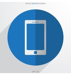Smart phone web flat icon vector