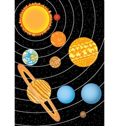Nine planets vector