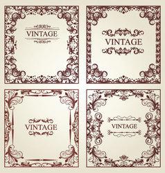 vintage frames - set vector image