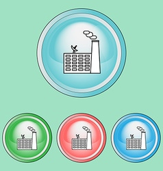 Ecology icons set industrial pollution vector
