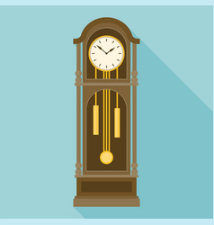 antique grandfather pendulum clock vector image